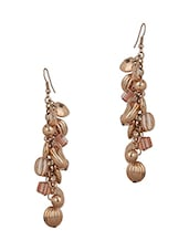 Fashionable Stone Bead Earrings With Gold Plating - Voylla