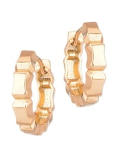 Pretty Pair Of Gold Tone Hoop Earrings - Voylla