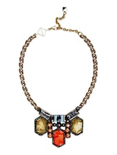 Gold Plated Embellished Collar Necklace - By