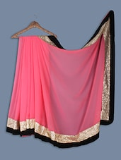 Chiffon Saree With Sequins Work - Ethnictrend
