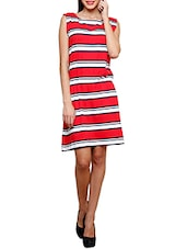 Multicolor Striped Sleeveless Dress - By