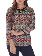 Multi Color Printed Cotton Top - By