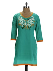Blue Pure Cotton Kurti - D'ETHNO