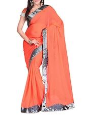 Orange Chiffon Saree - By