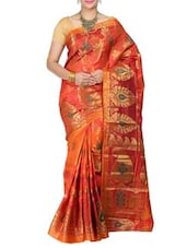 Gold Mimosa Women Kanchipuram Art Silk Saree With Tissue Blouse (Gold ,3180-JM-113-MTY-GOLD) Saree - By