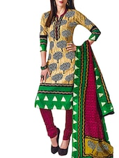 Printed  Cotton   unstitched suit set -  online shopping for Unstitched Suits