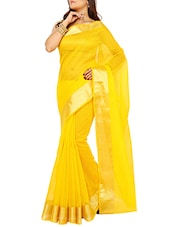 Yellow Color Art Silk Saree -  online shopping for Sarees