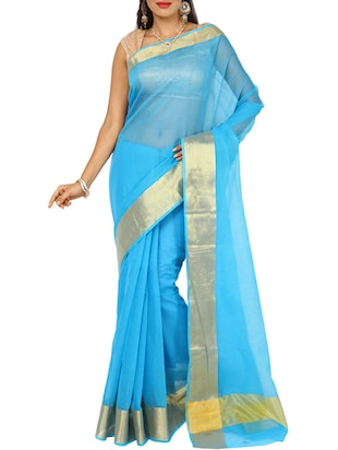 Blue Color Art Silk Saree -  online shopping for Sarees