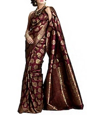 Maroon Art Silk Saree -  online shopping for Sarees