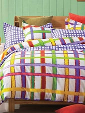 Colourful Striped Cotton Bed Linen Set - Spread