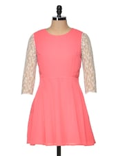 Coral Lace Dress - Besiva