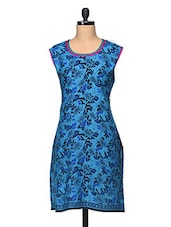 Printed Sleeveless Round Neck Cotton Kurti - Enakshi