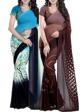 Multi Georgette printed saree -  online shopping for Sarees