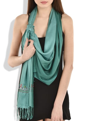 turqouise viscose scarf -  online shopping for Scarves