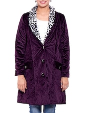 Purple Velvet Winter Coat - By