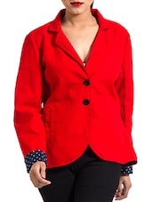 Red Cotton Winter Coat - By