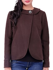 Brown Wool Winter Coat - By