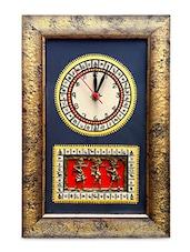 Warli Handpainted And Dhokra Work Clock 15*10 Inch - ExclusiveLane
