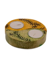 Wooden Engraving Tea Light Set Of 2 - ExclusiveLane