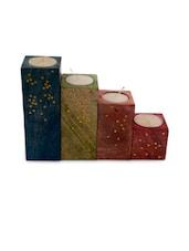 Multicoloured Tea Light Set Of 4 - ExclusiveLane