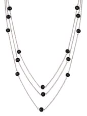 Metal Chain With Beads Necklace - Mesmerizink