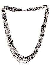 White & Black Acrylic Bead Necklace - Mesmerizink