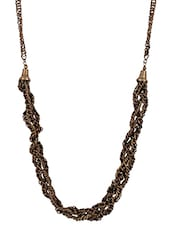 Twisted Metal Chains Necklace - Mesmerizink