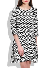 Black-white Polyester Dress - By