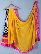 Geometric Printed Georgette Saree - Inddus