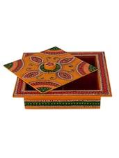 Papier-Mache Artistic Dry Fruit Box - ECraftIndia