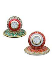 Set Of 2 Marble Table Clocks - ECraftIndia
