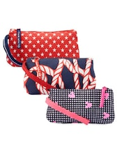Nautical And Star Print Trending Wristlet Set - Be... For Bag