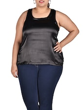 Viscose Black Tank Top - LastInch