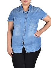 Denim Short Sleeve Shirt - LastInch