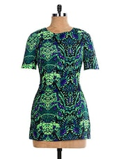 Multicolored Floral Poly Cotton Short  Dress - The Style Aisle - 985888