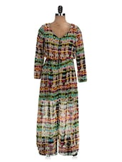 Multicolored Casual Chiffon Maxi Dress - The Style Aisle