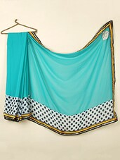 Multi Color Polka Dot Georgette Saree - ABHIRUPA