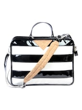 Sporty Black And White Crossbody Bag - HARP