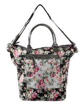Blue Floral Print Tote Bag - HARP