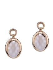 Classic Oval Mother Of Pearl Stud Earrings - By