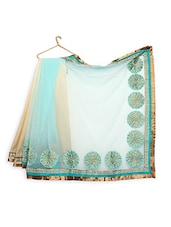 Mint Green And Beige Saree - Khwab