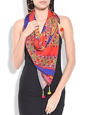 multicolored georgette printed stole -  online shopping for Stoles