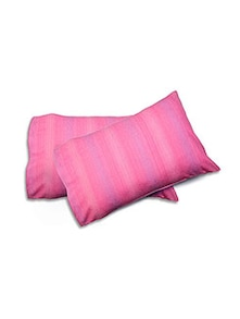 pink cotton pillow cover set