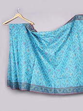 Sky Blue Cotton Saree - WEAVING ROOTS