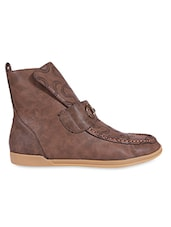 Brown Leather Boot - By