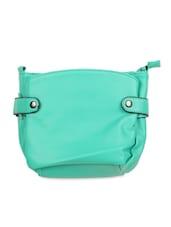 Solid Green College Sling Bag - KaryB