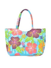 Floral Woven Canvas Tote Bag - Art Forte