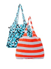 Flying Bird And Color Block Striped Handbags - Be... For Bag