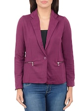 magenta polyester jackets and blazers coat -  online shopping for jackets and blazers and coats