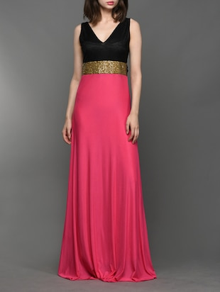 Pink sleeveless maxi dress -  online shopping for Dresses